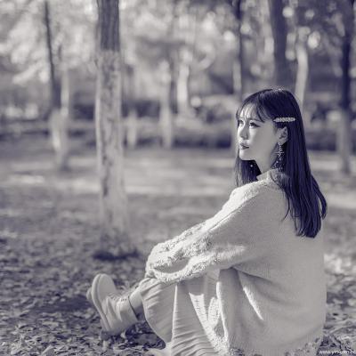 秋阳中的女孩-方舟